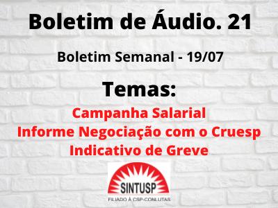 #Boletim 21 – Semanal – Campanha Salarial e Indicativo de Greve